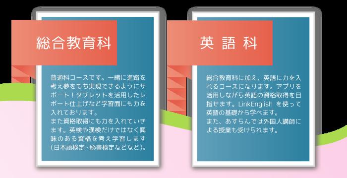【あすらん高等学院】総合教育科・英語科