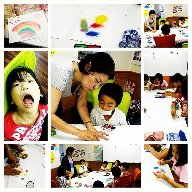 民間学童保育あすらんカラーセラピー体験1