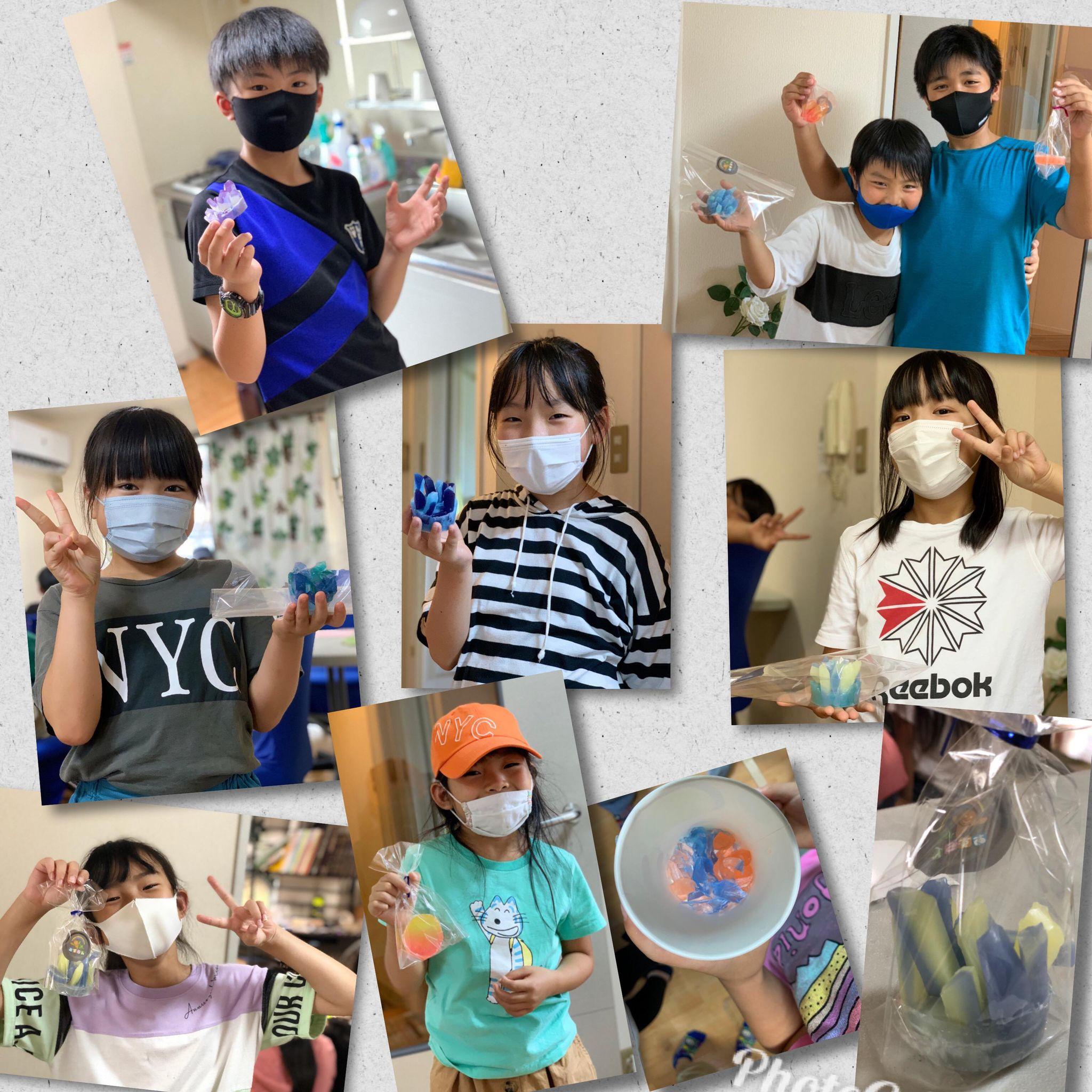 7月29日 宝石石鹸作り!2